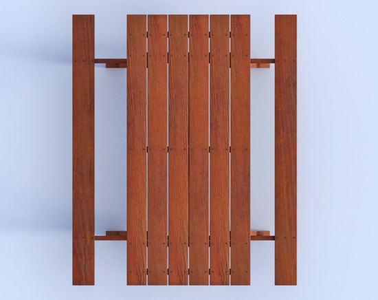 Picture of Wooden Picnic Table Model Poser Format