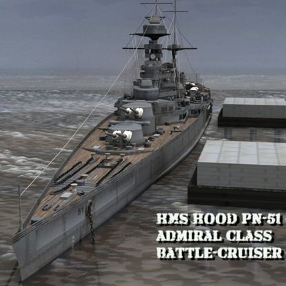 Picture of HMS Hood Battleship- warship figure for Poser