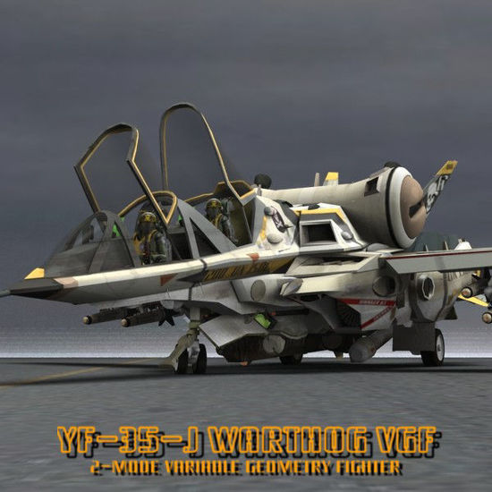 Picture of YF-35 Warthog VGF - mecha transforming robot figure for Poser