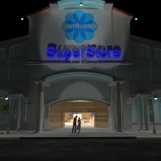SuperStore Prop Set for Poser