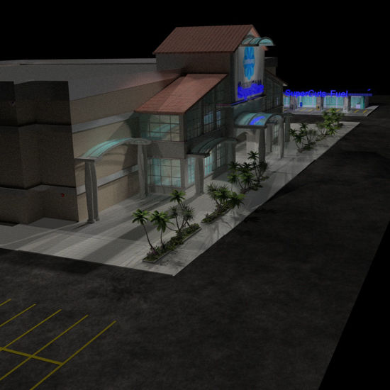 SuperStore (Prop Set for Poser) with all optional SuperStore Plaza Prop Sets loaded