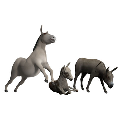 Poserworld Donkeys (3 Figure Set)