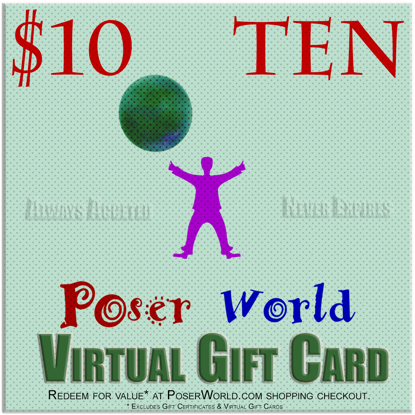 PoserWorld $10 Gift Certificate - Virtual Gift Card