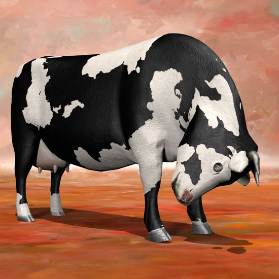 Cattle nervous pose rendered in Poser Firefly