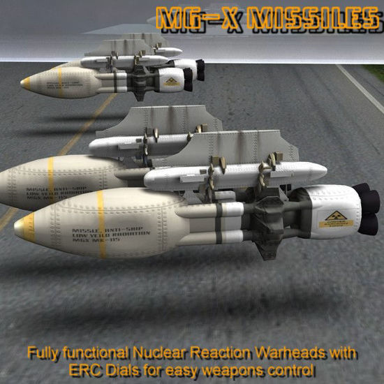 AVF-35-J Wildhog Weapons Add-On Set (for Poser) 3d mecha model by The Schell
