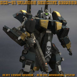 AVF-35-J Reactive Armour - add-on for Poser Mecha transforming robot figure