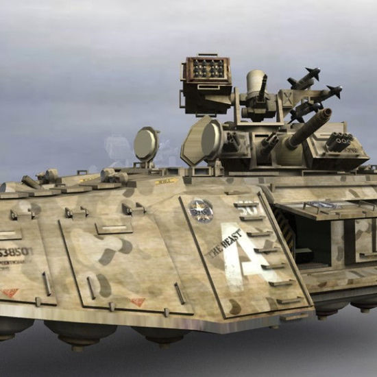 Dire Wolf MLMBT futuristic hover tank spacecraft figure for Poser