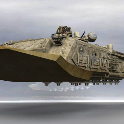 Lancet MLIFV military infantry vehicle futuristic hovercraft troop carrier for Poser 3d software