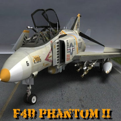 F4B Phantom Vietnam War Era Aircraft  3d figure for Pose