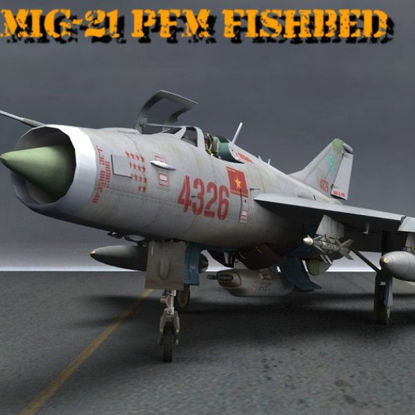 MiG-21 PFM Fishbed F (figure for Poser)