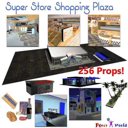 SuperStore Shopping Plaza for Poser 3D Software