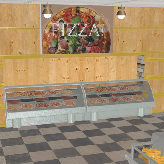 SuperStore 3d scene and supermarket construction set for Poser and DAZ 3D Studio