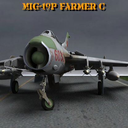 MiG-19 Farmer C (Military Aircraft figure for Poser) 3d model