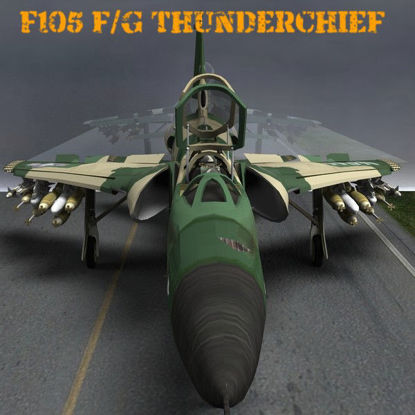 "F105F/G Thunderchief aka ""Thud"" (USAF bomber jet aircraft for Poser)"