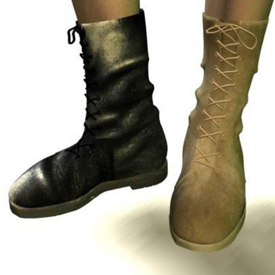 Picture of British army boots texFIX
