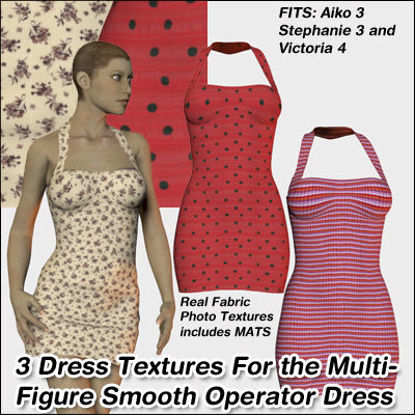 Picture of 3 Smooth Operator Dress Textures For Multiple Figures - October 2010 Edition : MF-SO-OctEdition