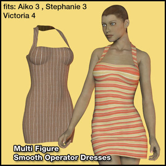 Picture of Two Smooth Operator Dresses for Multiple DAZ Figures : SO-Dresses-05102011