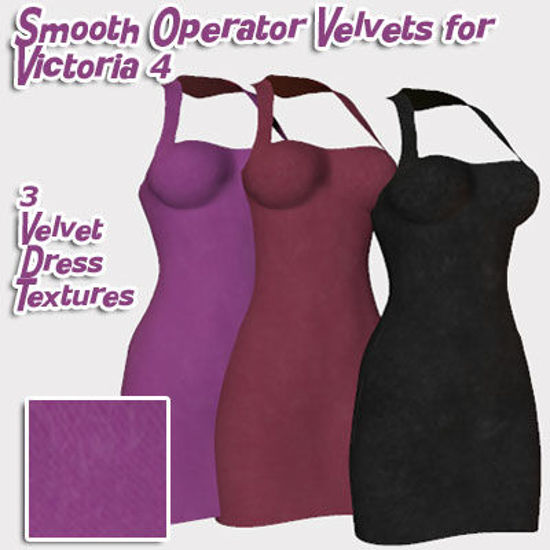 Picture of Smooth Operator Velvet Dress Textures for Victoria 4 : V4SmoothOVelvet