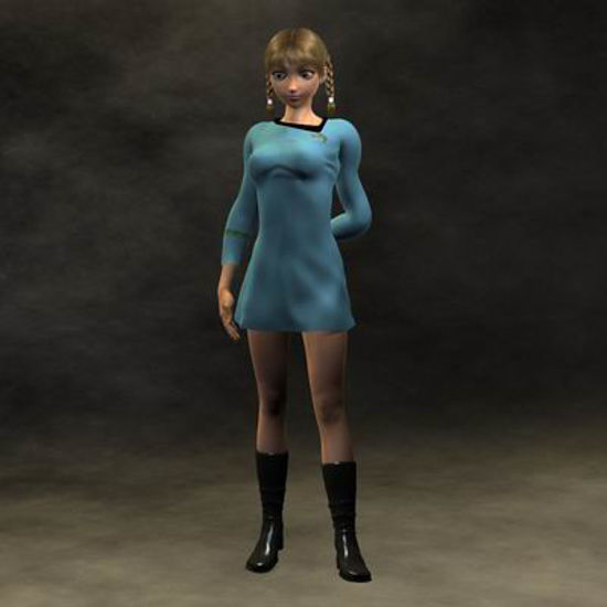 Picture of Space Fleet Officer for Akiko 3 - Poser / DAZ 3D ( A3 )
