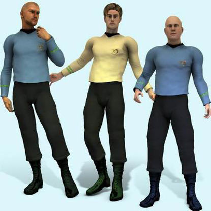 Picture of Space Fleet Officer for Apollo Maximus - Poser / DAZ 3D ( AM )