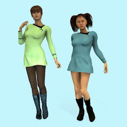 Picture of Space Fleet Officer for Poser - Required Textures (Female)