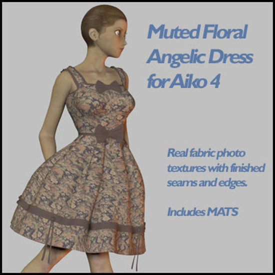 Picture of Muted Floral Angelic Dress for Aiko 4
