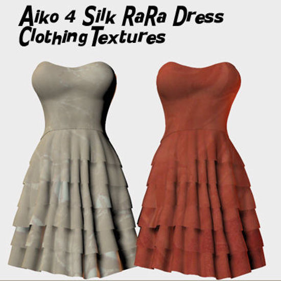 Picture of Aiko 4 Silk Ra Ra Dress Clothing Textures
