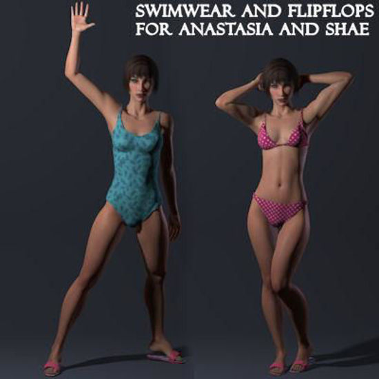Picture of Swimwear and Flip Flops for Anastasia and Shae