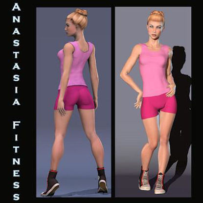 Picture of Fitness Outfit and Basketball Shoes for Anastasia