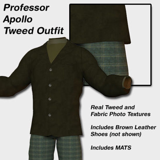 Picture of Professor Apollo Tweed Suit Outfit