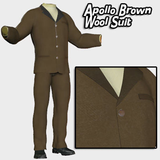 Picture of Apollo Brown Wool Suit Textures