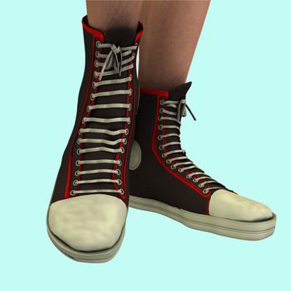Picture of BasketBall High-Top Sneakers TEXTURES maps - required download for BasketBall High-Top Sneakers