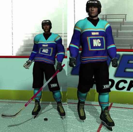 Picture of Ice Hockey Uniform for Apollo Maximus - Poser / DAZ 3D ( AM )