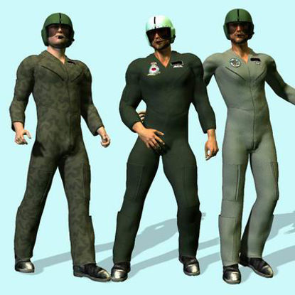 Picture of Flightsuit 2005 for Victoria 3 - Posre / DAZ 3D ( V3 )