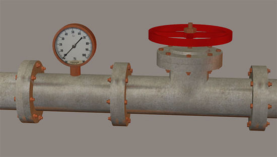 Picture of Modular Industrial Pipe Models