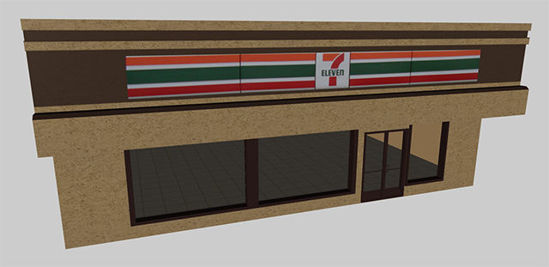 Picture of Convenience Store Building Model with Movements