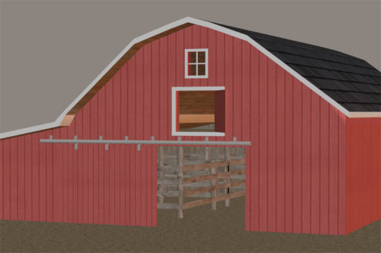 Picture of Farm Barn Model with Movements