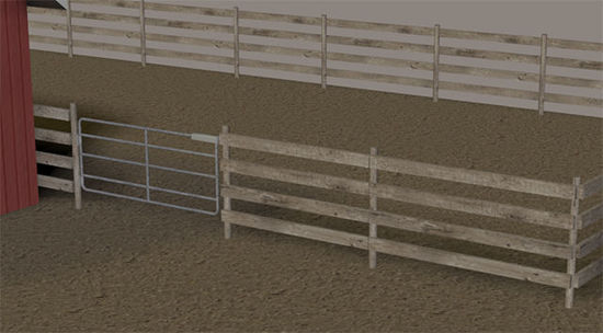 Picture of Fenced Farm Paddock Model with Movements