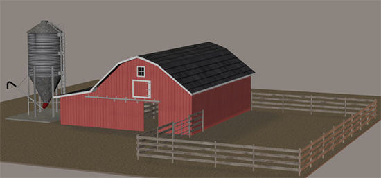 Picture of Farm Grain Storage Silo Model