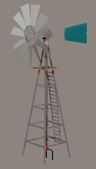 Picture of Farm Water Pumping Windmill