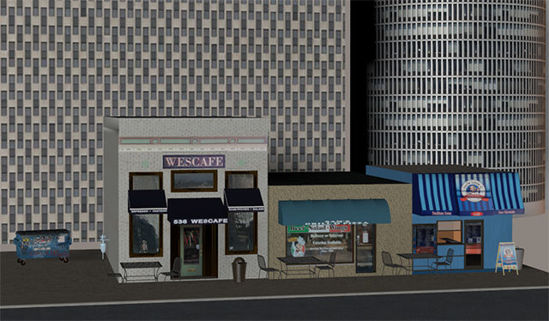 Picture of Low Polygon Background Skyscraper Models