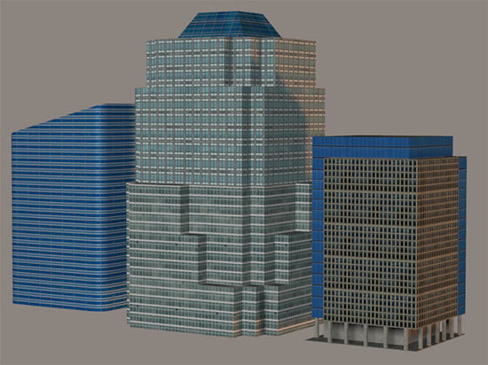 Picture of Low Polygon Background Skyscraper Model Set 2