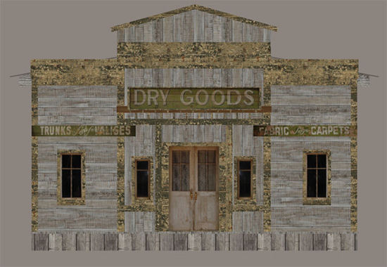 Picture of Old West Dry Goods Store Building Model