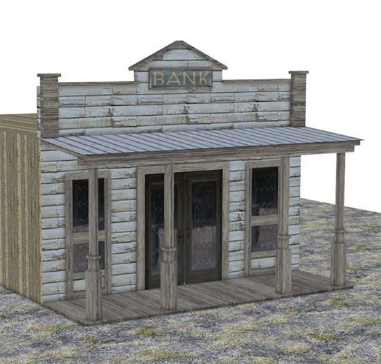 Picture of Old West Bank Building Model