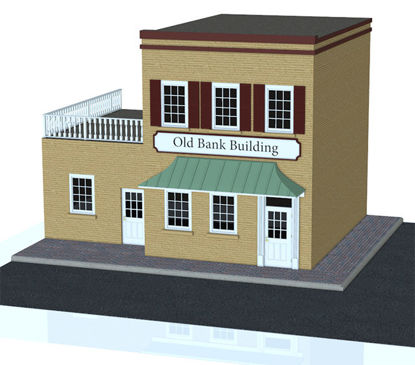 Picture of Old Town Building Model and Street Sections - Poser and DAZ Studio Format