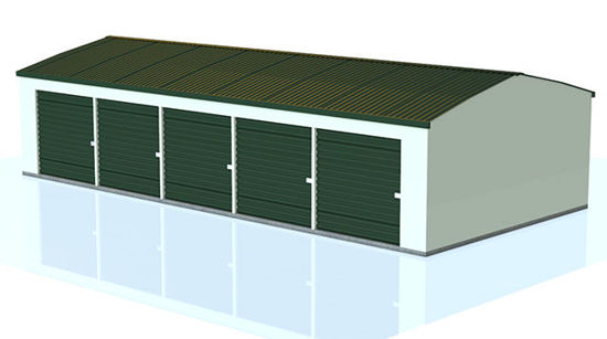 Picture of Mini-Storage Building Model - Poser and DAZ Studio Format