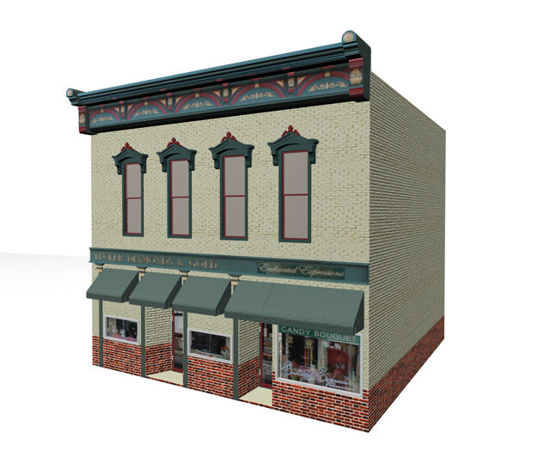 Picture of Modernized Victorian Building Model