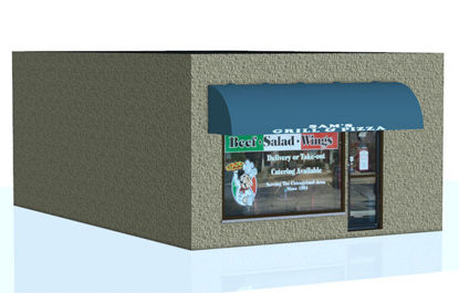 Picture of Pizza Shop Building Facade Model
