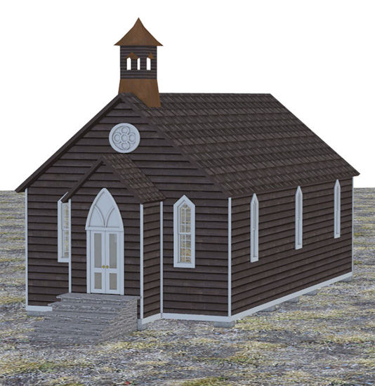 Picture of Old West Church Building Model