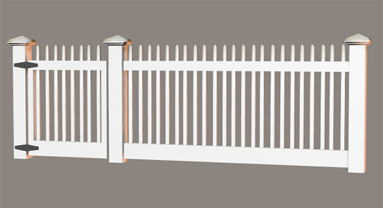 Picture of Modular Picket Fence Model